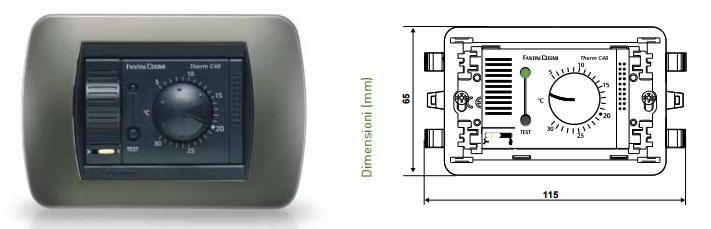 Fantini cosmi c48b termostato a incasso stock elettrico for Termostato fantini cosmi ch110