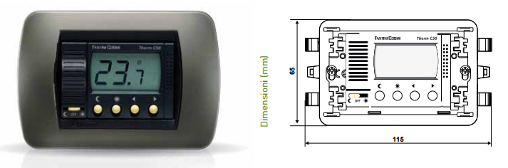 Fantini cosmi c50 termostato a incasso stock elettrico for Termostato fantini cosmi c48 prezzo
