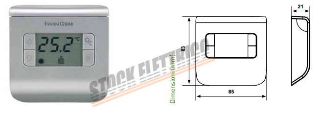 Fantini cosmi ch110 termostato digitale stock elettrico for Termostato fantini cosmi ch110