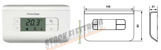 Fantini cosmi ch115 termostato bianco stock elettrico for Fantini cosmi ch115