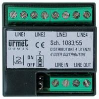 Urmet 1083 55 distributore 4 utenze per sistema 2voice for Schema videocitofono urmet
